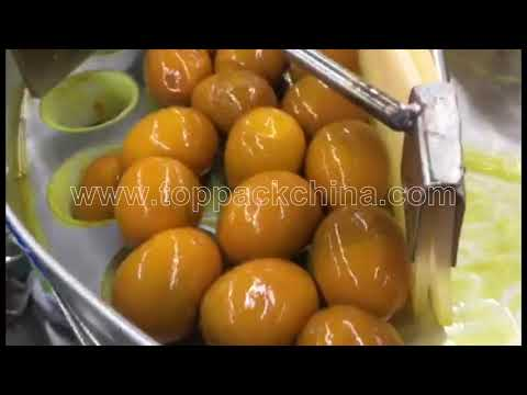 Rotary Automatic Marinated Egg Vacuum Packing Machine