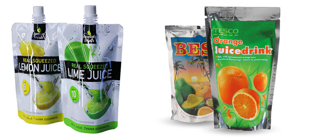 juice pouch packing machine