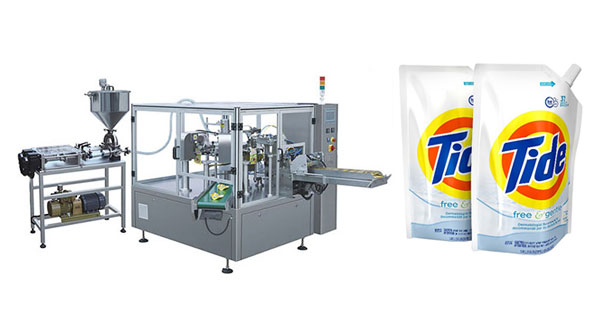 Rotary Pouch Filling And Sealing Machine For Detergent