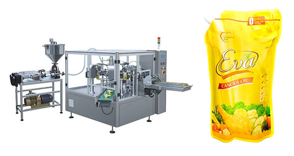Automatic Oil Doypack Pouch Filling Sealing Packing Machine