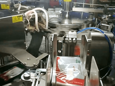Rotary Beef Soup Pouch Packing Machine