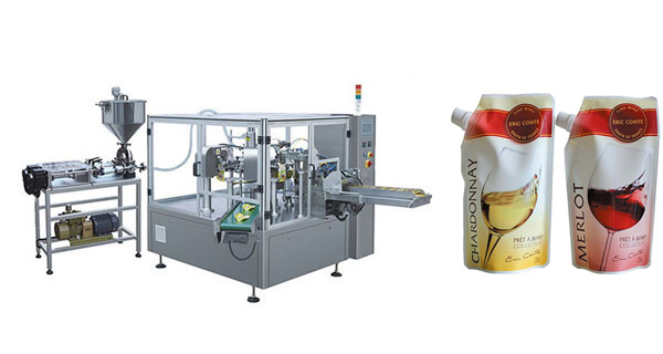 Wine and Alcoholic drink Doypack Pouch Filling Sealing Packing Machine