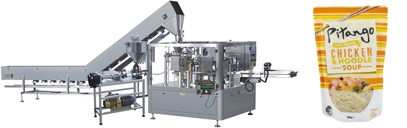 Chicken And Soup Pouch Filling Sealing Machine