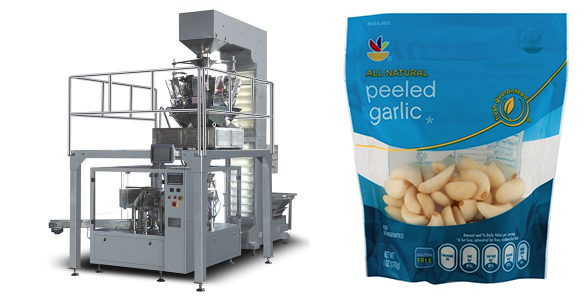 Peeled Garlic Doypack Pouch Filling Sealing Packing Machine
