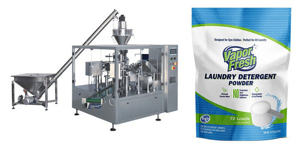 Detergent Powder Premade Pouch Packing Machine